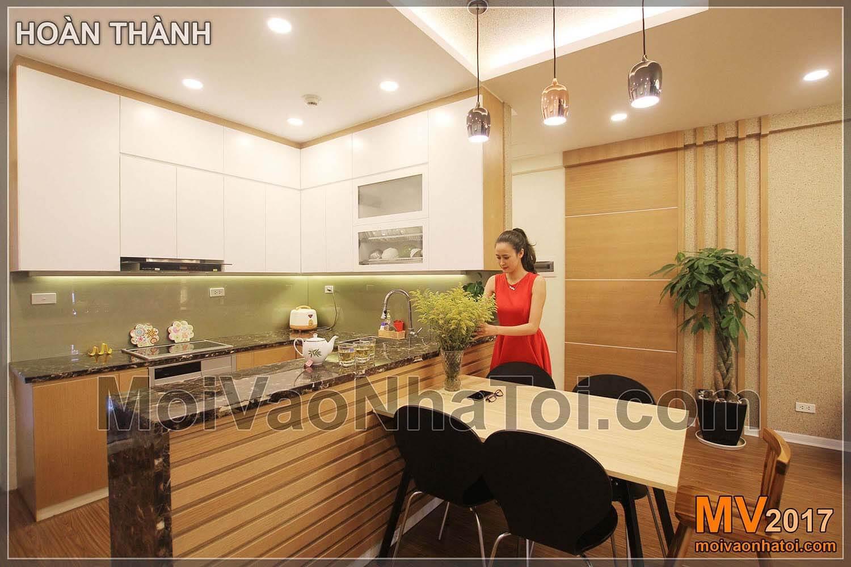 Phòng bếp ăn chung cư viện 103 Hà Đông