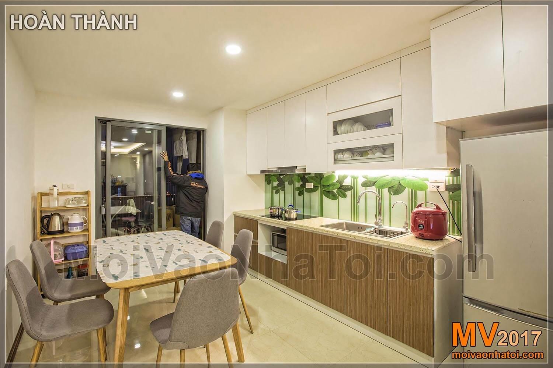 Phòng bếp chung cư T&T RIVERVIEW Vĩnh Hưng