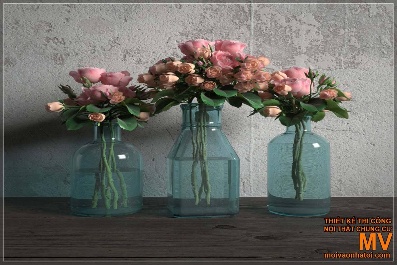 Cách trang trí ban công, decor chậu hoa