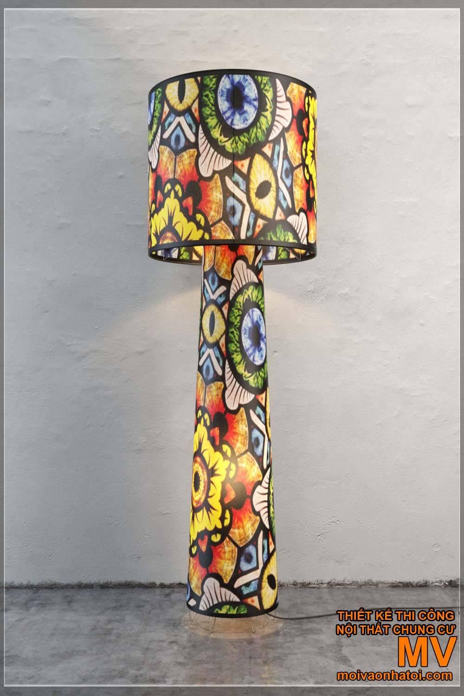 đèn cây trang trí phòng khách