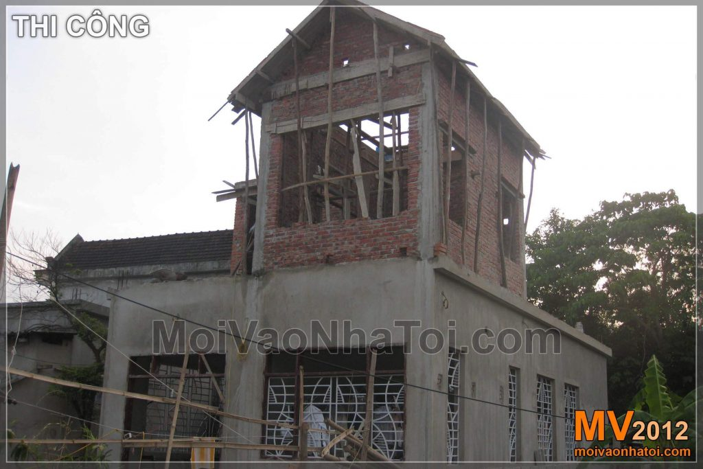 Rough construction of 2-storey villa