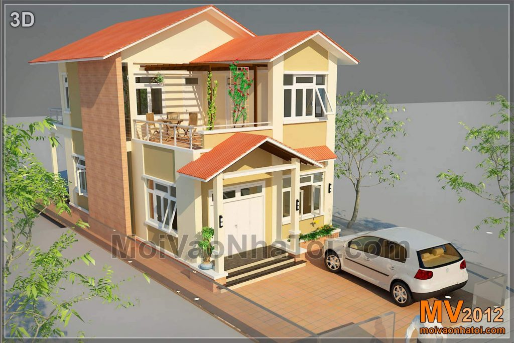 Perspective design garden villas