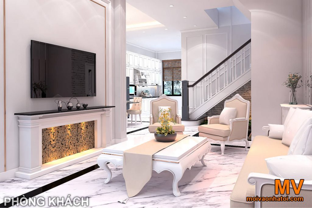 Appartamento in stile classico di interior design