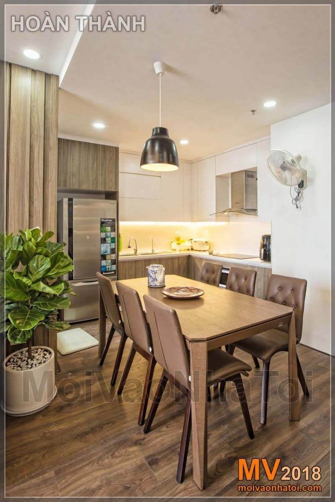 Thiết kế nội thất phòng bếp chung cư theo phong thủy