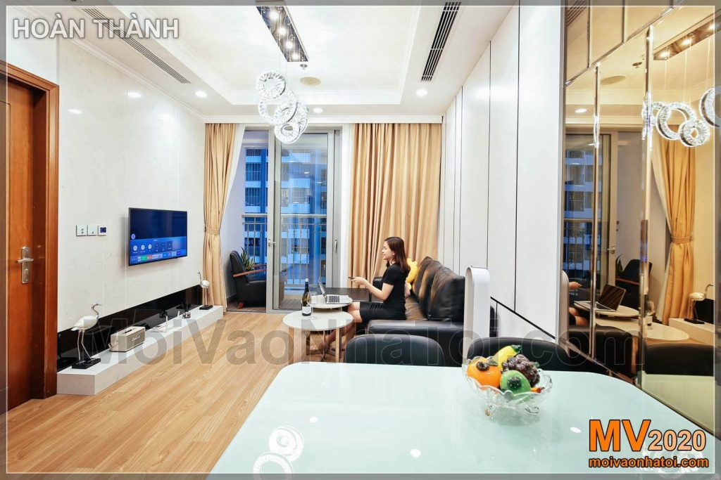 Interior design of Park Hill Times City apartment