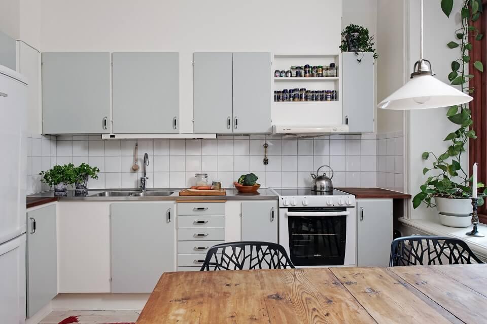 cải tạo phòng bếp căn hộ cũ theo phong cách tối giản bắc âu