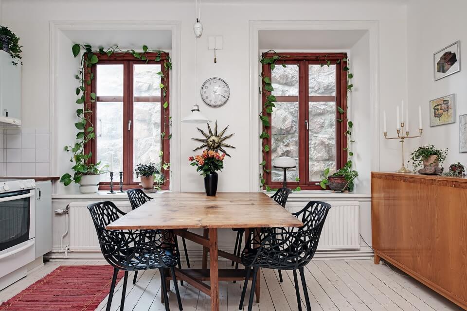 cải tạo phòng bếp căn hộ cũ phong cách bắc âu