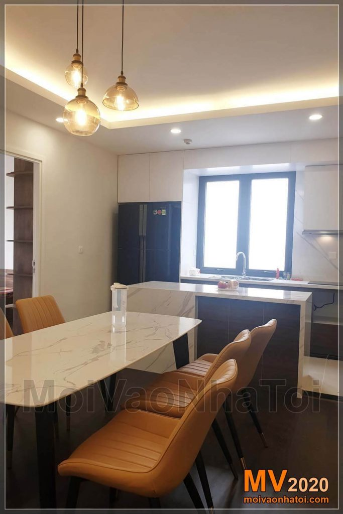 Dining table, kitchen, apartment bar