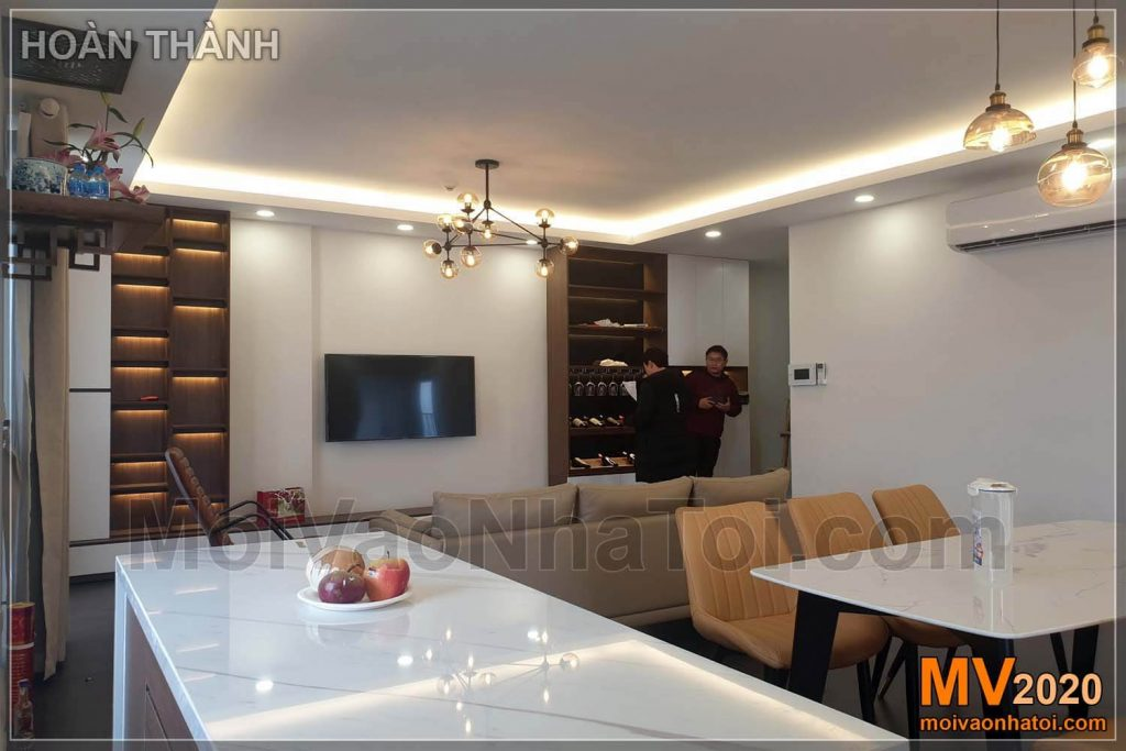 Interior construction of Imperia Sky Garden - Minh Khai apartment