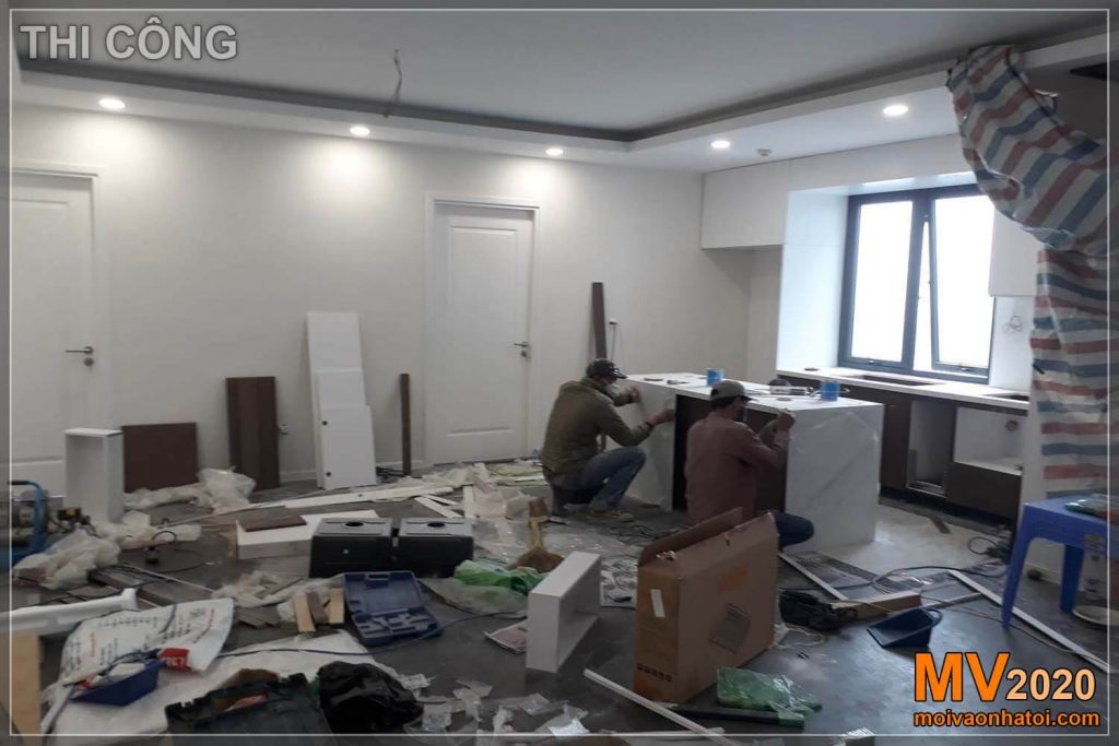 Construction process of apartment interior