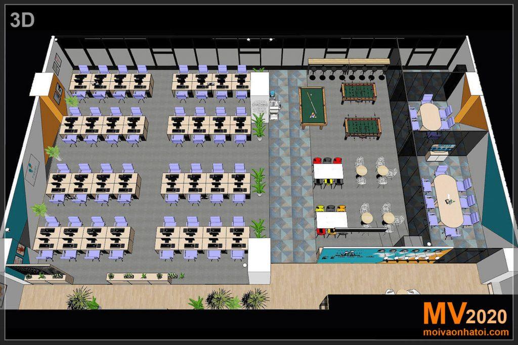 3 डी डिजाइन कार्यालय फर्नीचर