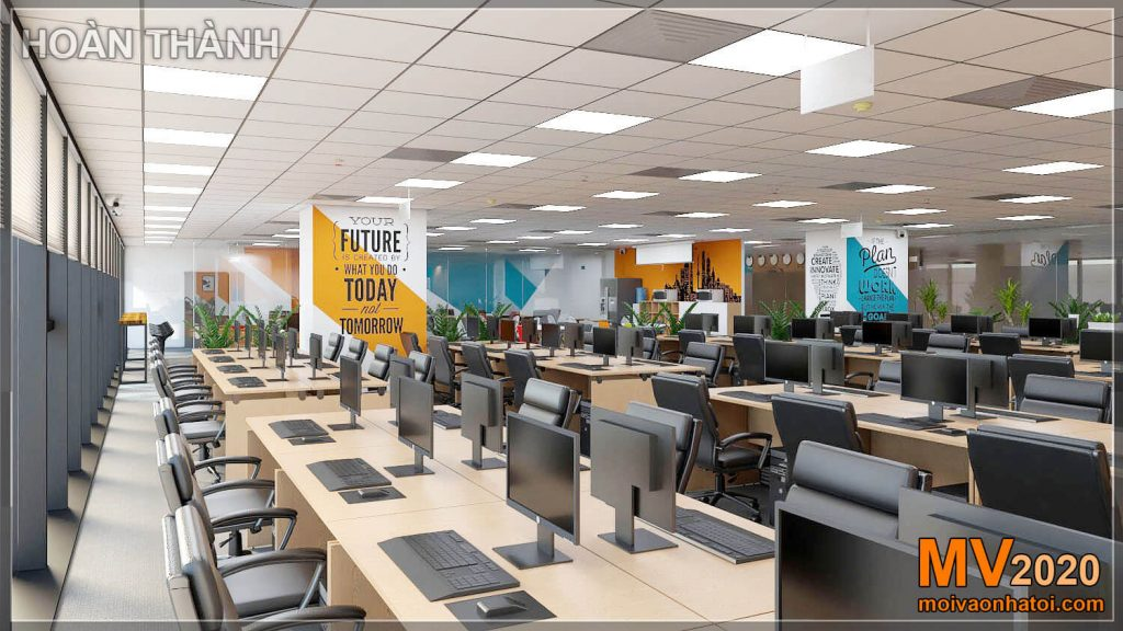 Design and construction of office furniture for large companies