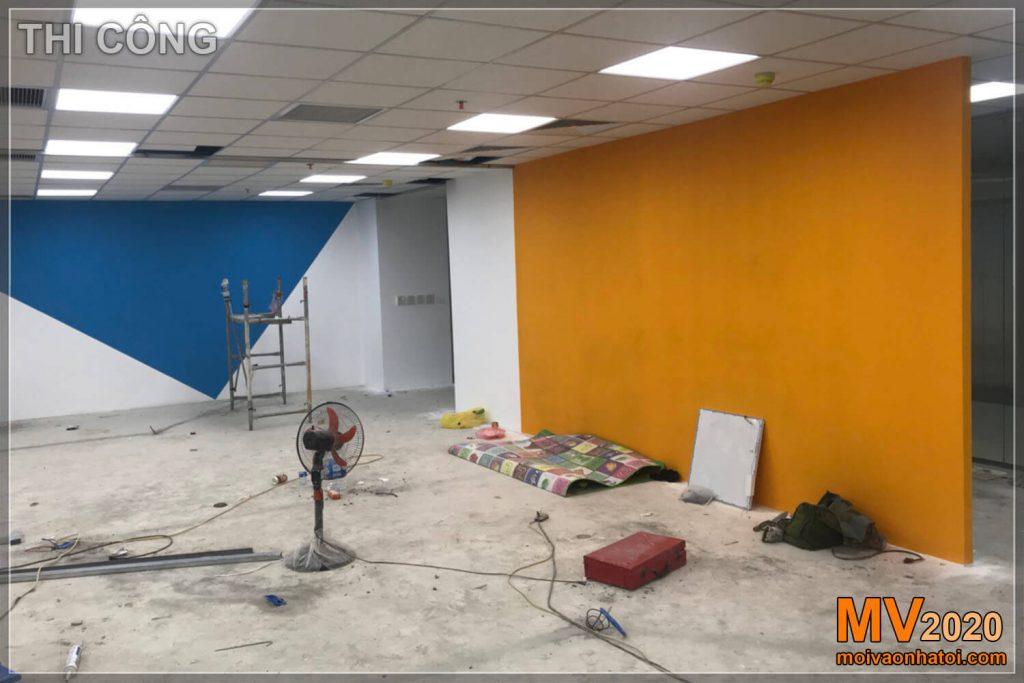 Tinta de parede para escritório de construção