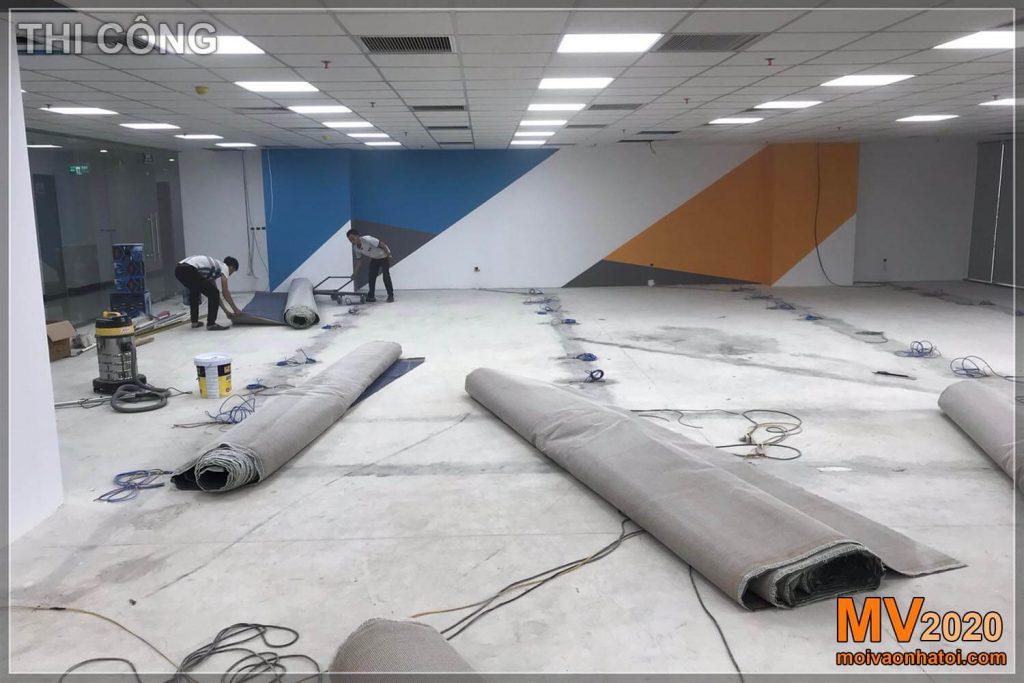 Construção de tapetes de escritório para empresas