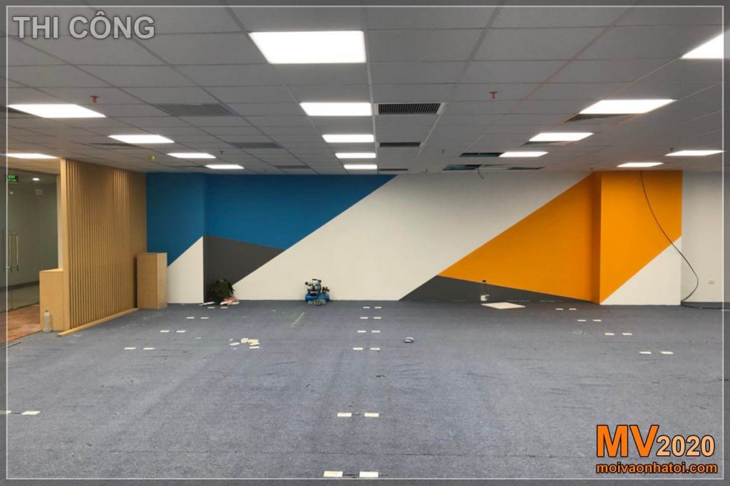 Construção interior de tapetes de escritório