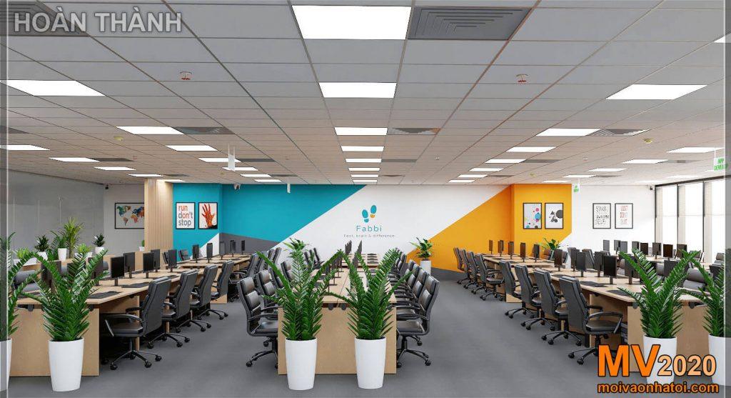 Projeto e construção de empresa profissional de móveis de escritório