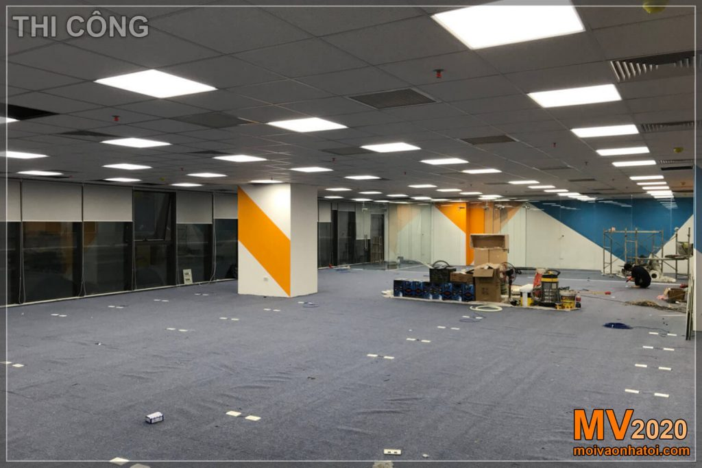 Construction of company office furniture