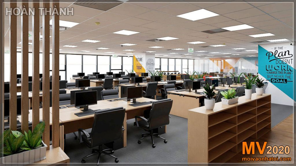 Mobiliário de escritório após o projeto de construção