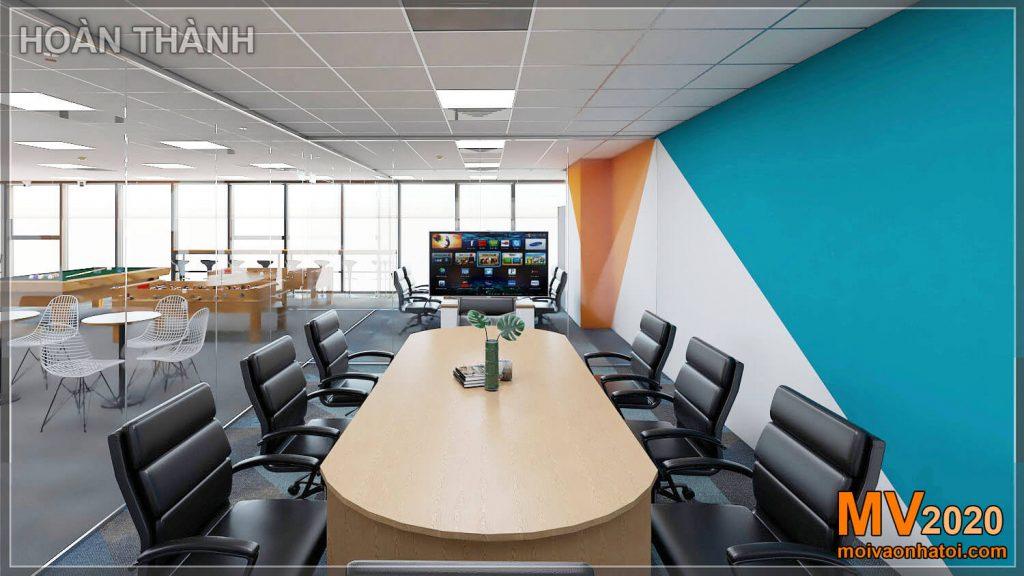 Projeto e construção de móveis para salas de reuniões da empresa