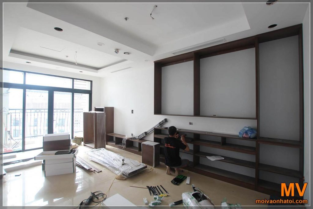 Interior construction of Royal City apartment