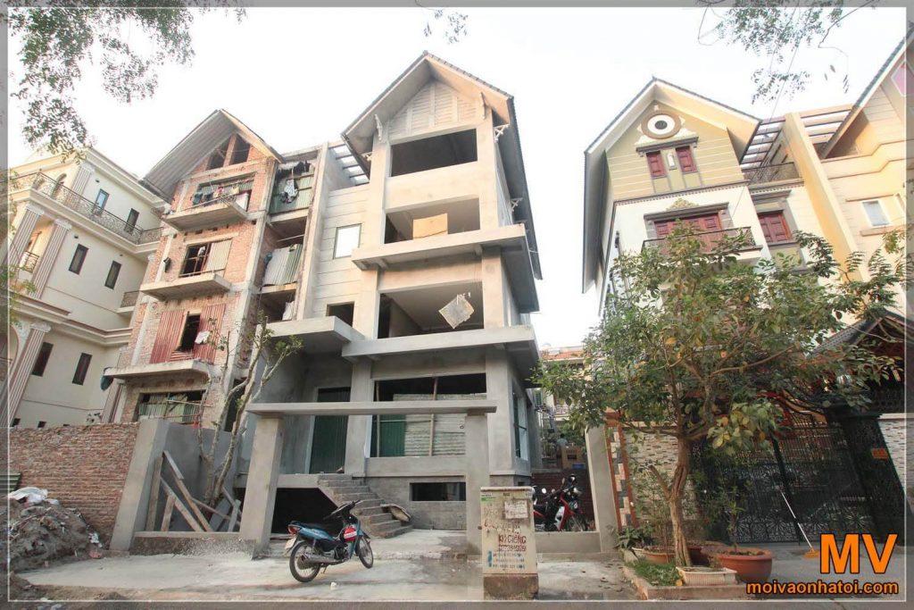 4-podlažní vila design a konstrukce
