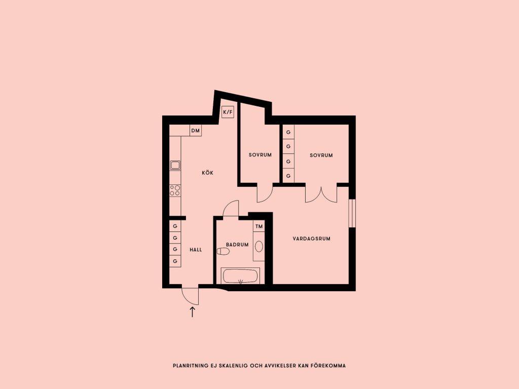 mặt bằng kiến trúc căn hộ thiết kế mở