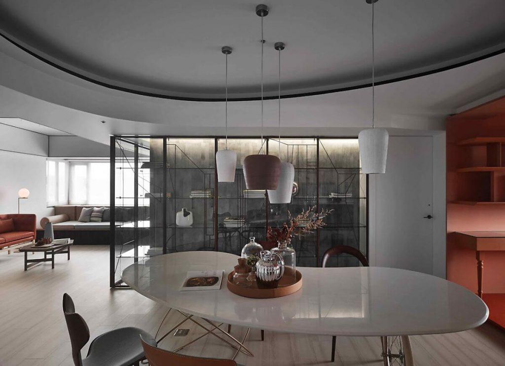 Sự liên thông về nội thất và màu sắc trong phong cách retro giữa các phòng