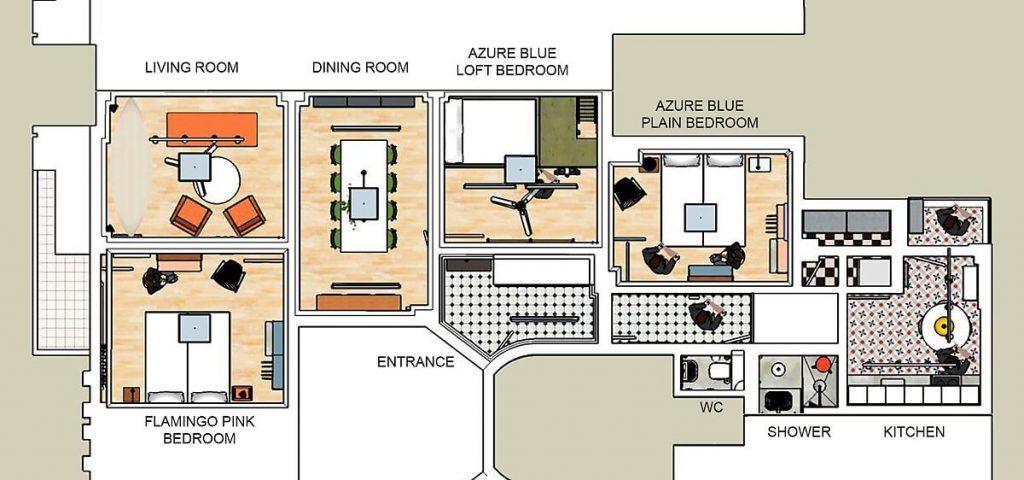 Mặt bằng bố trí căn hộ
