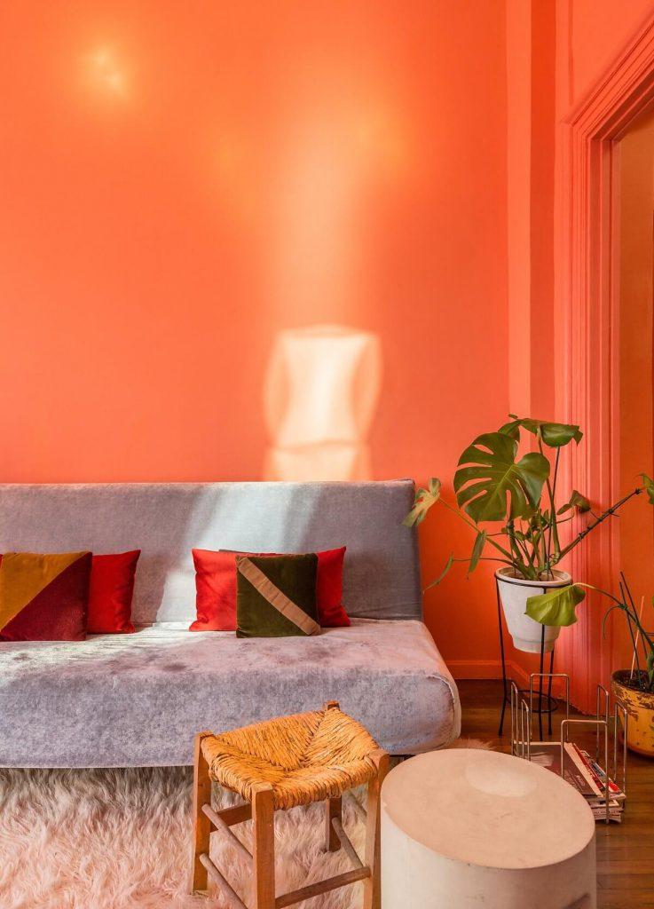 Nội thất hòa hợp trong cách phối màu sơn nhà đẹp