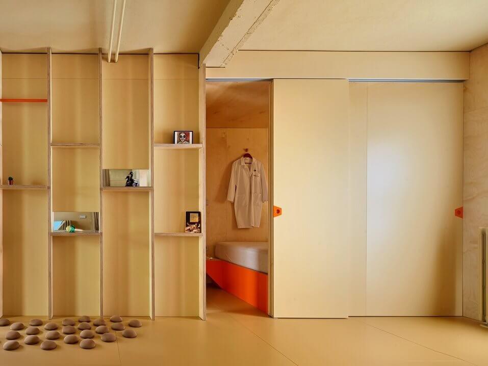 Cửa kéo để ngăn không gian phòng ngủ - phòng thay đồ với những phòng khác