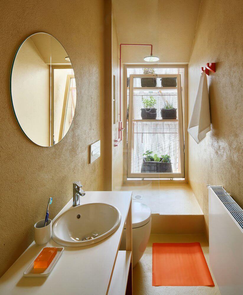 Phòng vệ sinh với nội thất thông minh, nhỏ gọn