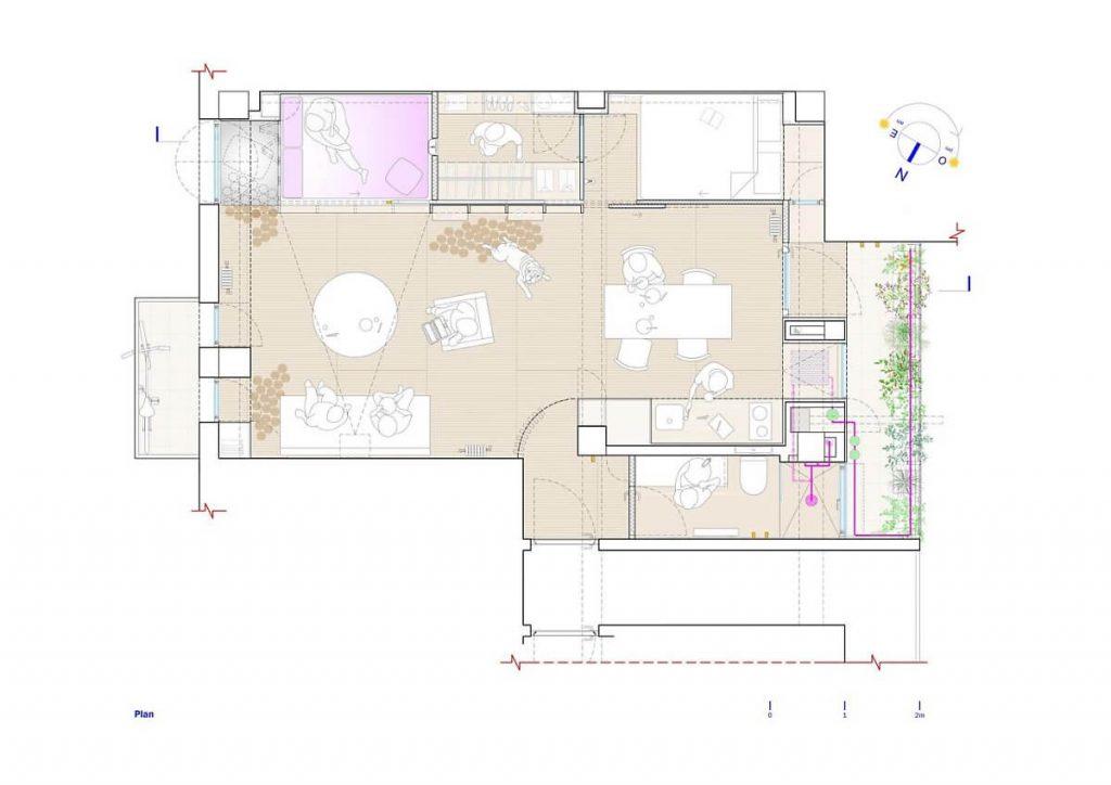 Mô hình thiết kế của căn hộ nhỏ