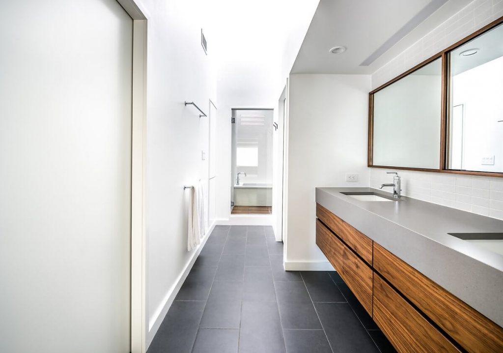 phòng tắm cũng rất tinh tế, hiện đại trong phong cách minimalism