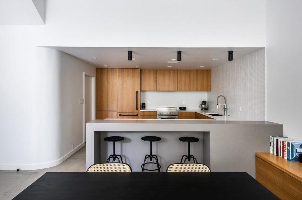 Nọi thất phòng bếp đơn giả, đầy đủ tiện nghi theo phong cách minimalism