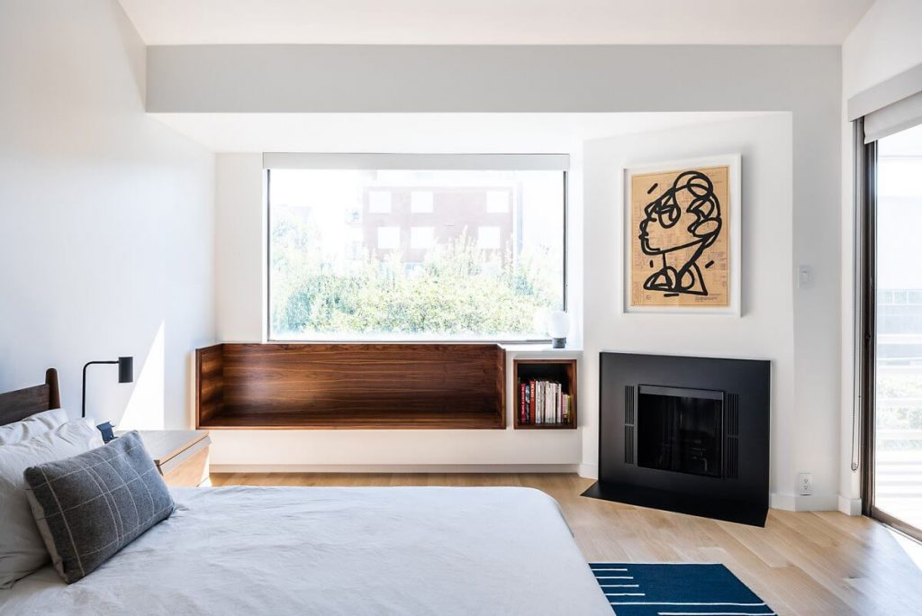 Tầng 2 của căn nhà 2 tầng cũng được trang trí theo phong cách minimalism