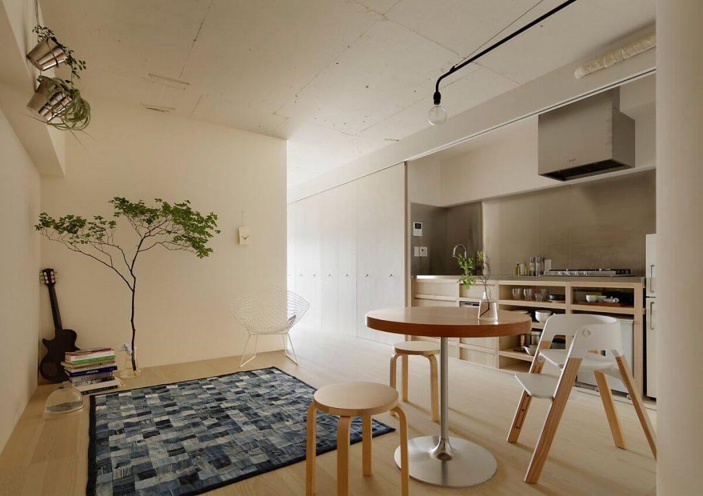 nội thất thông minh trong không gian sinh hoạt chung của căn hộ nhỏ