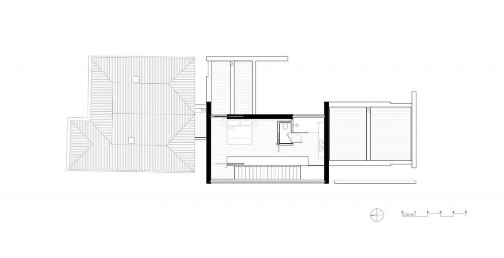 Bản vẽ thiết kế tầng 2 của căn hộ được trang trí bởi gạch ốp tường
