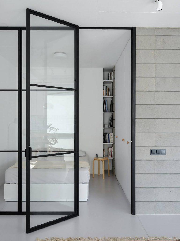 nội thất tối giản của phòng ngủ
