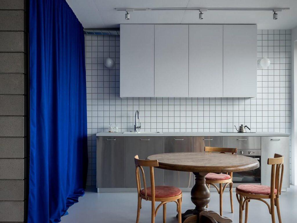 Tổng quan phòng bếp mang phong cách tối giản pha chất vintage
