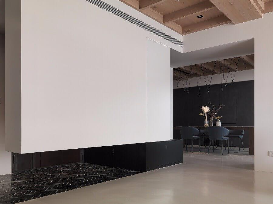 Vách tường độc đáo tại phòng khách