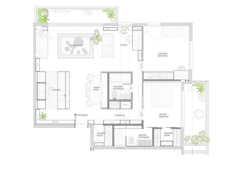 Bản vẽ thiết kế của căn hộ tiết kiệm chi phí khi xây dựng