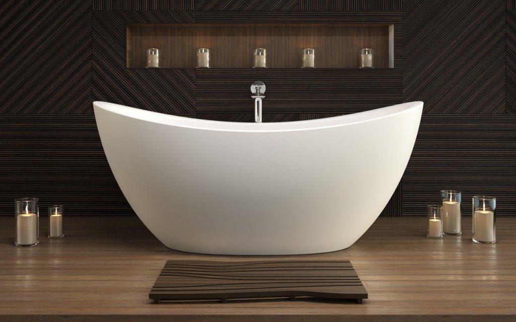 Bồn tắm nằm kiểu dáng oval