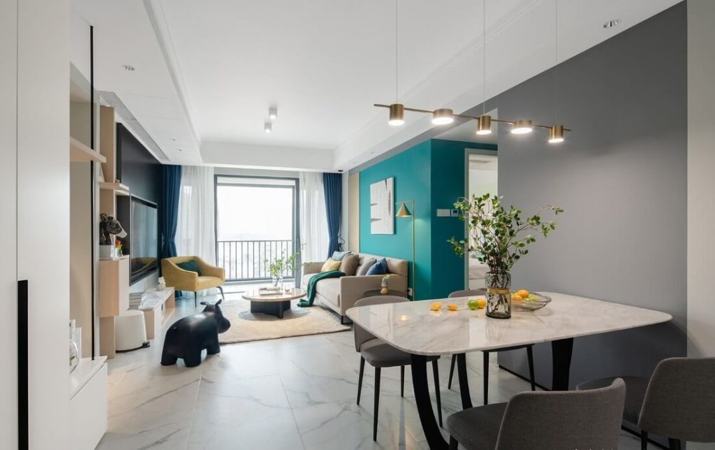 Không gian sinh hoạt chung phòng phách và phòng ăn thiết kế mở - cải tạo nội thất chung cư