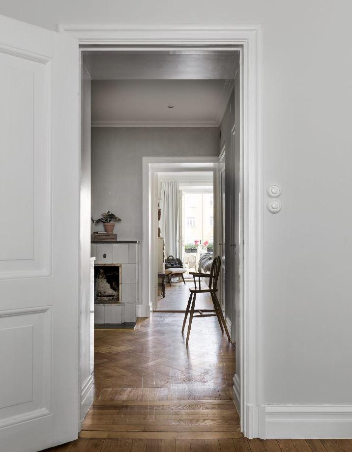 Hành lang chính của căn hộ - thiết kế căn hộ nhỏ