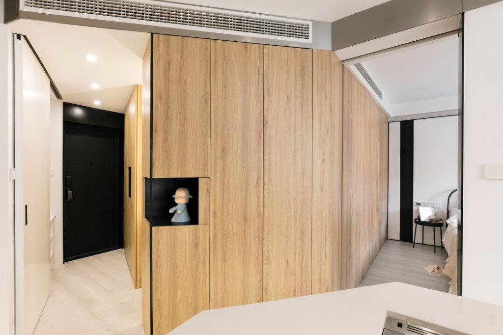 Tủ gỗ công nghiệp và hệ thống điều hòa âm trần