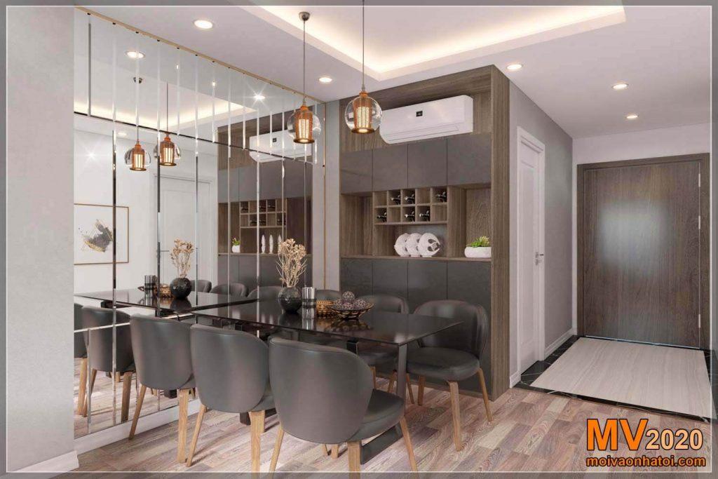 phòng ăn chung cư imperial sky garden