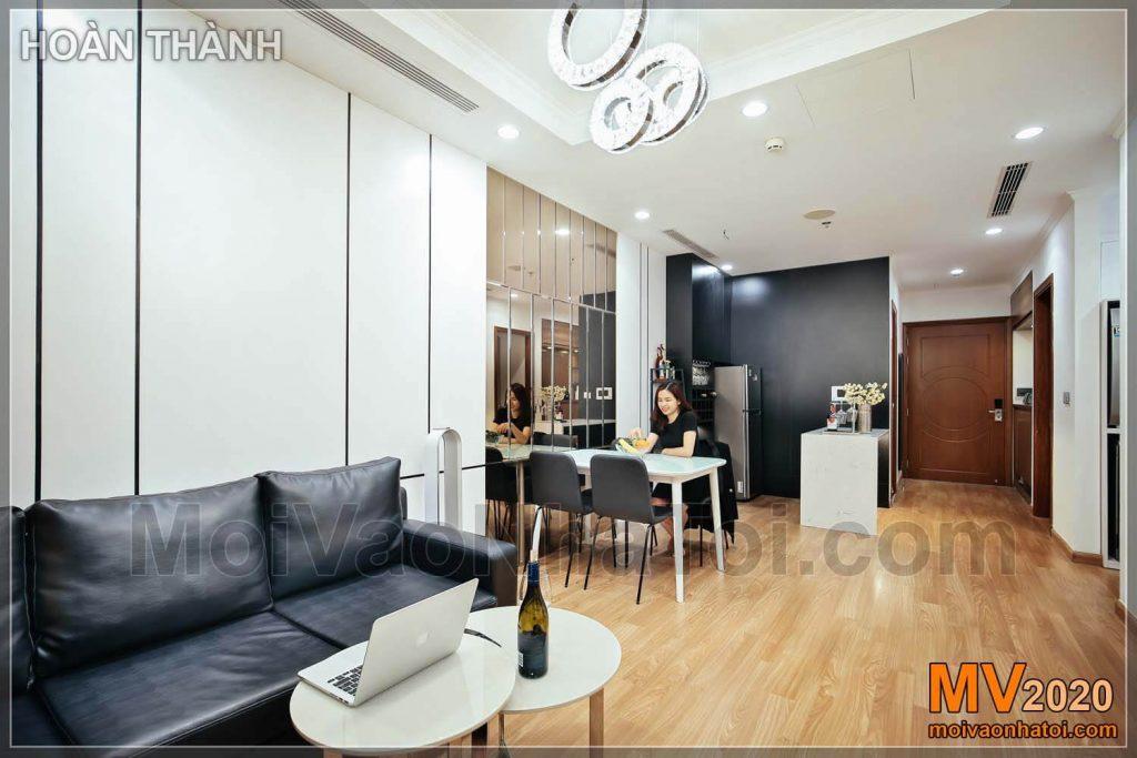 Phòng khách và phòng ăn chung cư park hill