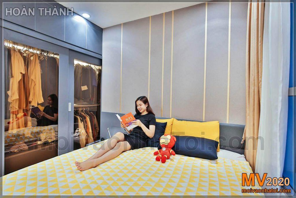 phòng ngủ master căn hộ park hill