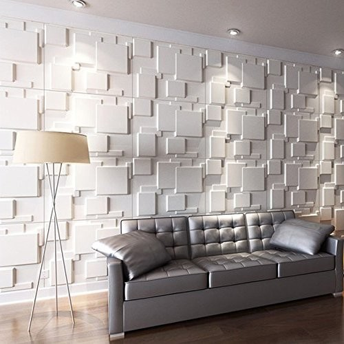 بلاط 3D يمهد جدار غرفة المعيشة