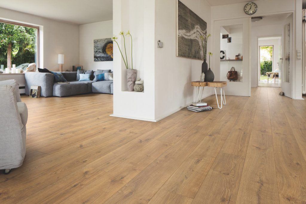 Sample of industrial wooden floor for common living space
